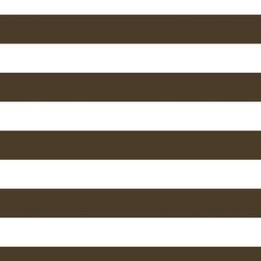 FS Wide 2 Inch Cocoa Brown and White Stripe