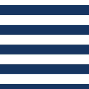 FS Two Inch Wide Admiral Navy and White Stripes