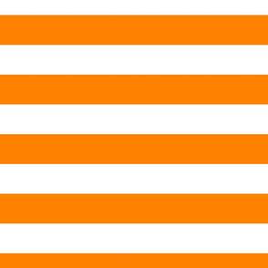 FS Carrot Orange and White Two Inch Wide Stripe