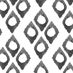 Diamond Watercolor Ikat Black White Gray _ Miss Chiff Designs