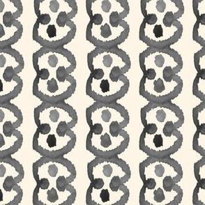 Circle Spot Watercolor Ikat Cream Off White Grey Black white || Tribal Neutral Home Decor Gray _ Miss Chiff Designs