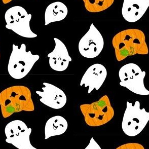 Halloween Ghosts & Pumpkin Cats Catolanterns