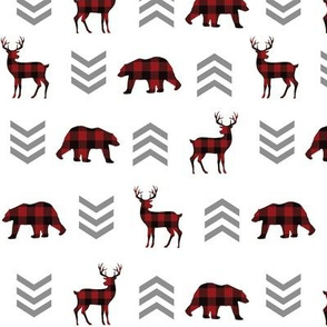 Plaid Bears and Deer