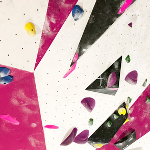Free climbing bouldering gym holds chalk wall girls pink FAT QUARTER