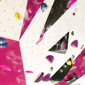 Free climbing bouldering gym holds chalk wall girls pink FAT QUARTER