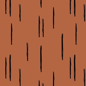 Minimal stripes grid strokes scandinavian abstract autumn copper design