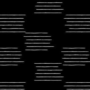 Abstract grid strokes horizontal lines minimal Scandinavian mid-century design monochrome winter
