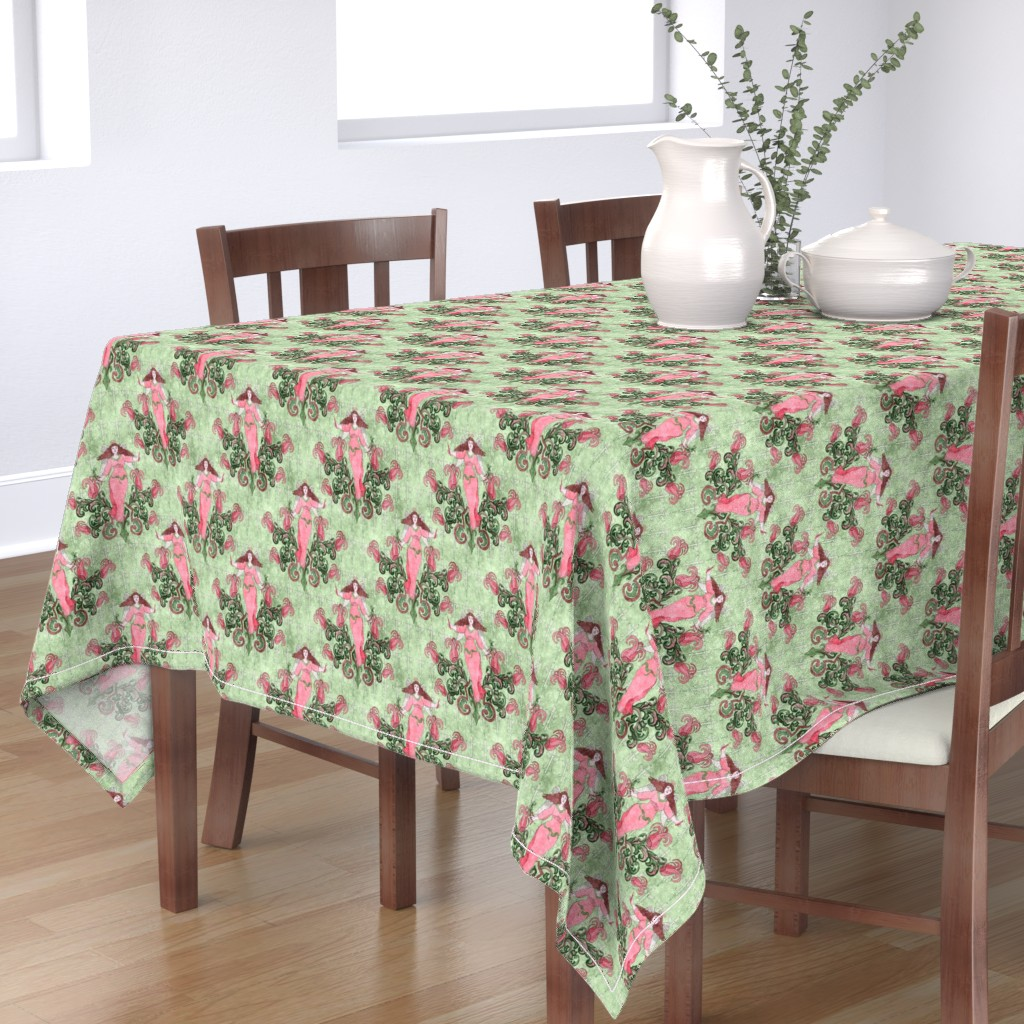 Bantam Rectangular Tablecloth featuring Victorian Angel Watercolor, medium by palifino