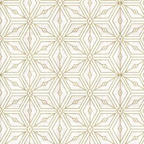mod star white + gold