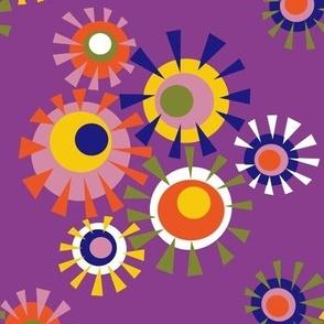 Circle a go go - multi on purple