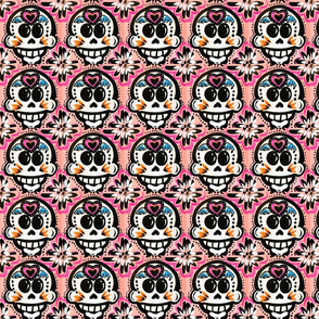 Day of the Dead Pink with heart