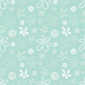 Garden Tea Party Abstract Florals