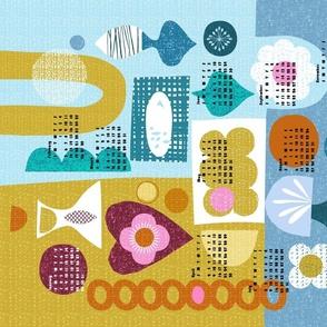 2021 Shapes of Things tea towel calendar