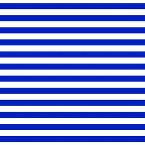 "3/4"" Horizontal Cobalt Blue and White Stripe"