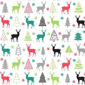 Christmas Trees and Deer