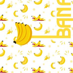 Yellow Banana Bread Recipe Tea Towel