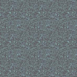 Blue wrens teal on Smokey grey