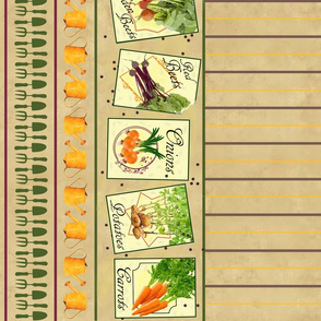 My Vegetable Garden Seed Packets