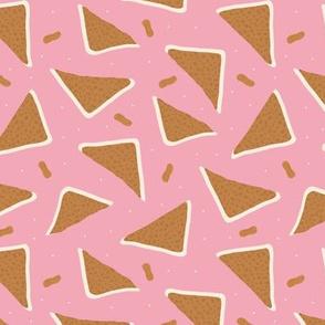 Peanut butter sandwich bread cool food pop design mustard pink girls