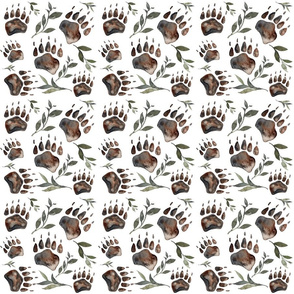 bear paw repeat spoonflower