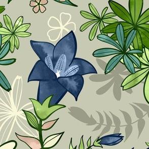 Alpine Flowers - Gentian, Edelweiss / Large Scale