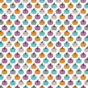 Cute geometric pumpkin love kawaii halloween design blue orange purple girls SMALL