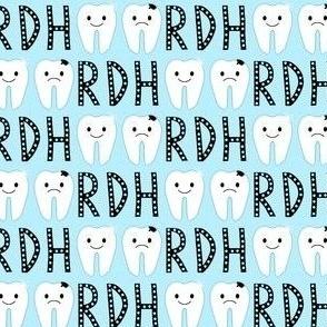 Dental/ Tooth/ RDH on Blue