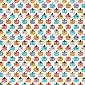 Cute geometric pumpkin love kawaii halloween design blue orange coral gender neutral SMALL