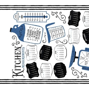 Kitchen Conversions 2020 Calendar White Blue