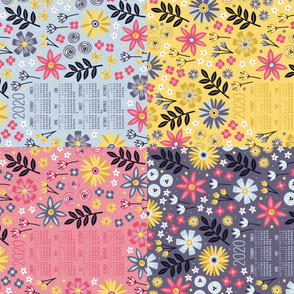 2020 Garden Joy Tea Towel Calendar Set