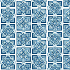 Square medallion sea blue