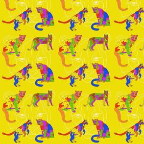 Spirit Lions in Yellow