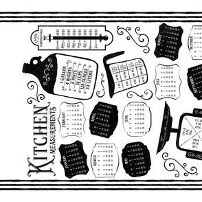 Kitchen Conversions 2020 Calendar White Black