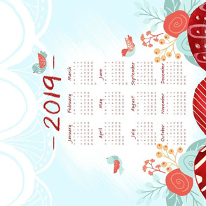 Happy Hump Days - Tea Towel Calendar 2019