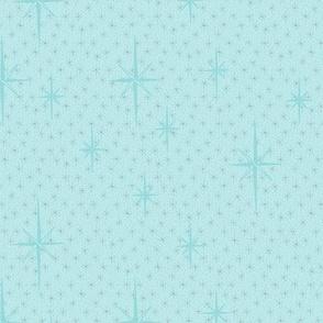 Pastel blue starbursts