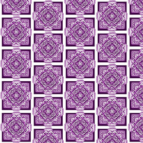 square medalion purple