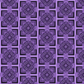 square medalion black on lavender
