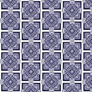 square medalion delft blue