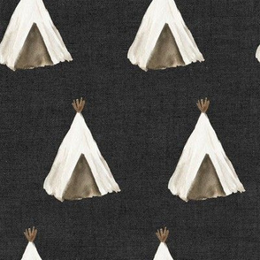 "8"" Desert Teepee // Charcoal Linen"