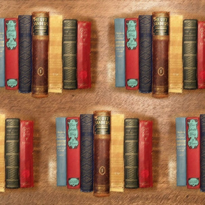Book Lovers Fabric Soft Pastels