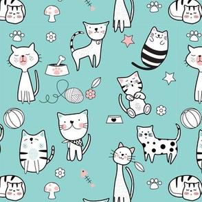 Cute Cats Seamless
