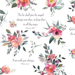 Baby Girl Scripture Floral on white