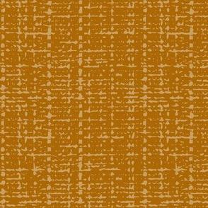 Burnt orange fifties solid barkcloth