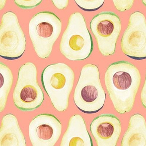 avocado in pink background
