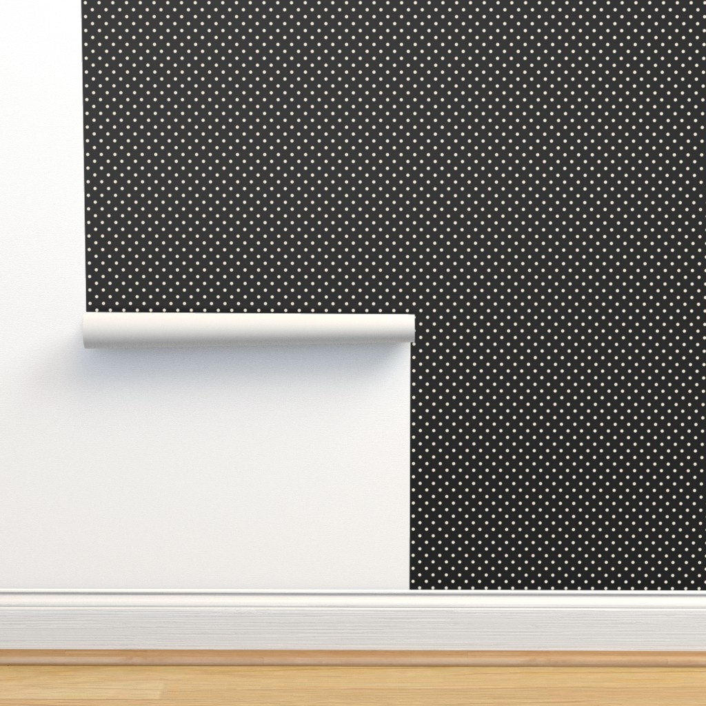 Isobar Durable Wallpaper featuring Neon green dots on black by danadu