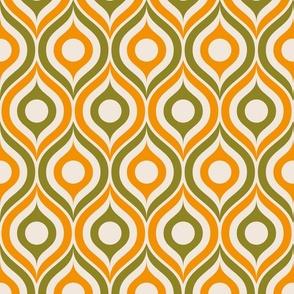 Neon green argyle pattern on black
