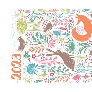 Safari Calendar Tea Towel 2020