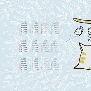 2020 Calendar: Kitty in Wildflowers - © Lucinda Wei