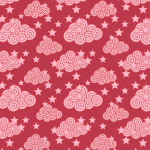 Pinkswirlycloudsandstars