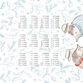 2020 Calendar: Hedgehogs + Tea - © Lucinda Wei